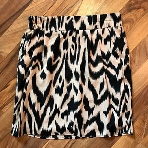 Francesca's Moonlight Animal Print Mini Skirt